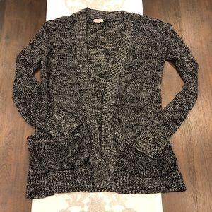 Mossimo Large black marled sweater